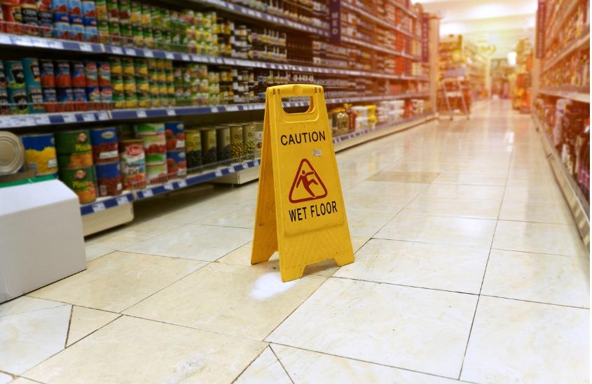 Sinalização de segurança para supermercados