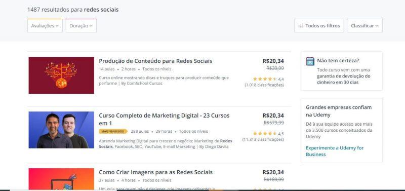 Texto: Redes sociais para supermercados - Blog Casa Magalhães - Curso Udemy